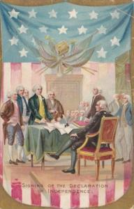 Signing Of The Declaration Of Independence 1908 Tucks