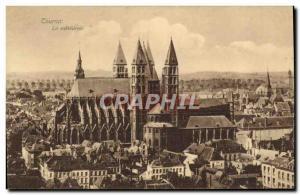 Old Postcard Tournai cathedral