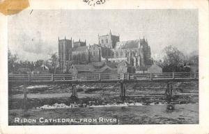 uk38545 cathedral from river ripon real photo uk lot 17 uk