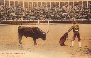 Matador Entrant a Matar Tarjeta Postal Bullfighting Unused