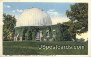 Observatory, University of Virginia