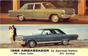 1966  Ambassador DPL Hardtop Four Door Sedan Postcard