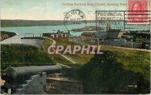 Old Postcard Halifax Harbor from Citadel