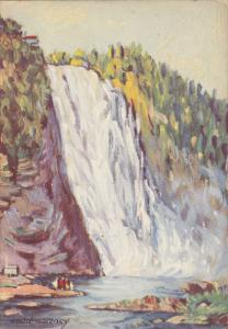 AS: Andre Morency; MONTMORENCY FALLS, Quebec, Canada, PU-1957