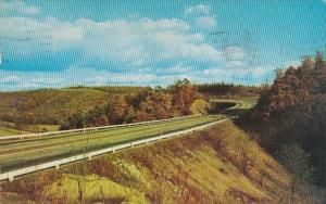 A Fall Scene Taken Along Pennsylvania's Famous Turnpike West Nyack Pennsylvania