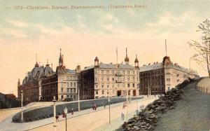 Norway Old Vintage Antique Post Card Christiana, Drammens Road Unused