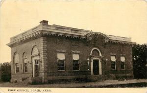 c1910 Postcard; US Post Office, Blair NE Washington County Posted