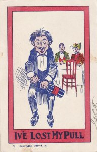 COMIC, 1905; I've Lost My Pull, Waiter trying to open Wine Bottle
