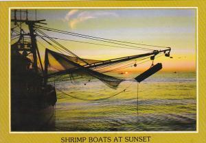 Florida Sunset With Shrimp Boats Trolling