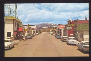 FAIRPLAY COLORADO DOWNTOWN FRONT STREET SCENE 1960's CARS OLD POSTCARD