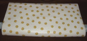 Vintage By the Yard Wall Paper Covering Yellow Orange Green Flowers Print