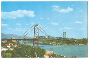 Brazil, Brasil, FLORIANOPOLIS, Ponte Hercilio Luz Bridge, 1971 used Postcard