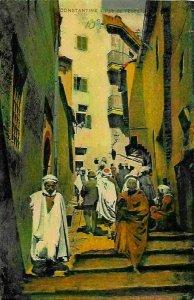 Algeria Constantine Rue de l'Echelle Street Postcard