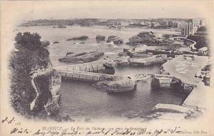 BIARRITZ, Le Pont des Pecheuss, vue prise du Semaphore, Pyrenees-Atlantiques,...