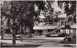 Hofors Folkets Park Med Servering Sweden Real Photo Postcard
