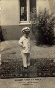 1933-34 Chicago World's Fair Smallest Man in World Little Person Dwarf RPPC