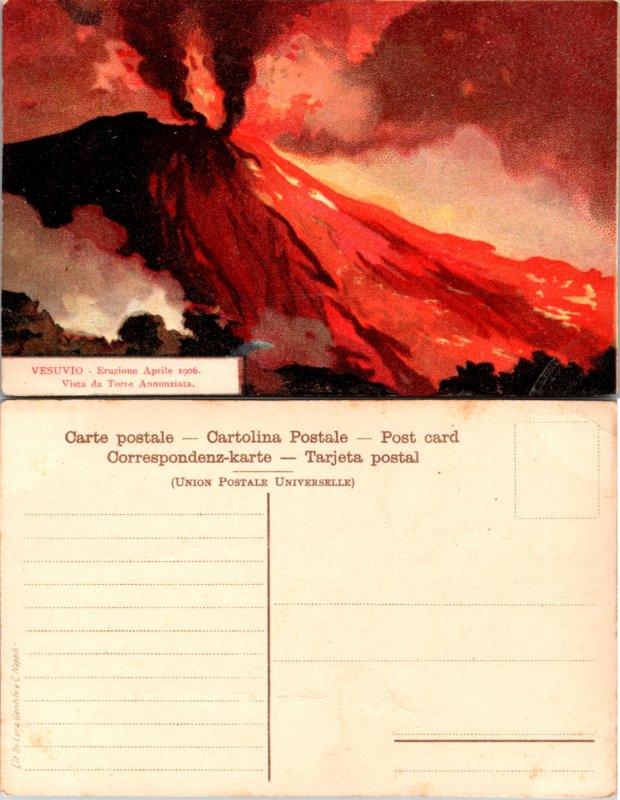 Vesuvio - Erugione Aprile 1906, Vista da Torre Annunziata (10420)