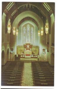 Fond du Lac WI Immanuel Trinity Lutheran Church Interior Vintage Postcard