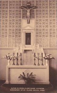 Nebraska Omaha Altar Poor Clare Nuns Cloister Monastery Of Saint Clare Artvue
