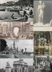 France Lourdes, Paris, Colmar and more Postcard Lot of 21 with RPPC 01.05
