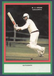 NJ Speak Lancashire RARE Limited Edition Vintage Cricket Trading Photo Card