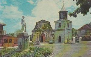 Church & Statue of Doctor Duquesnay , Martinique, 40-60s