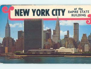 Unused Pre-1980 WATERFRONT & EMPIRE STATE BUILDING New York City NY hp3329
