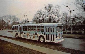 RTA Christmas Trolley Bus on the Oakwood Line Dayton, Ohio, USA Bus Stations ...