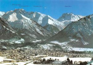 Skidorf Oberstdorf Allgaeu Village General view Mountain Futschiesser