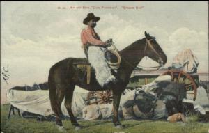 Brazos Bob Old Time Cowboy Foreman c1910 Postcard - Nice Detail