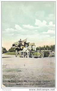 North East Carry, Maine, Transporting Canoes to West Branch of Penobscot, D/B