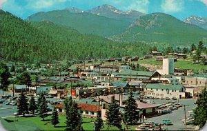 Colorado Vista Of Long's Peak and Mt Meeker From Estes Park Village 1974