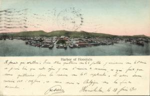 hawaii, HONOLULU, Harbor Scene (1910)