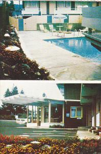 Swimming Pool, Flowers, The Fairways Motel, Island Highway, Nanaimo, British ...