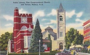 Public Library First CongregationalChurch And Tavern Nashua New Hampshire