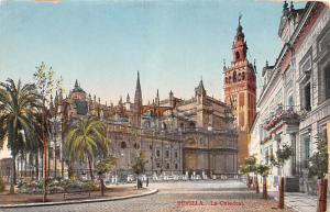 Spain Old Vintage Antique Post Card La Catedral Sevilla Writing on back