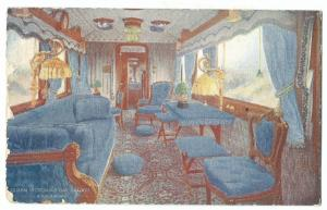 Queen Victoria's Day Saloon, LNWR Royal Train PPC, Unposted, L&NWR Official