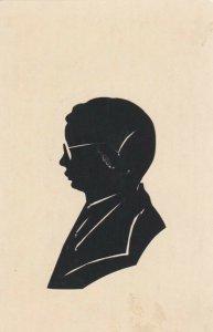 SILHOUETTE, Scissor type, 1901-07; Man wearing glasses