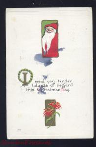 CHRISTMAS DAY TIDINGS SANTA CLAUS SPLIT BEARD ANTIQUE