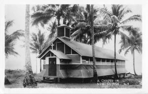 New Guinea Chapel Real Photo Antique Postcard J49761