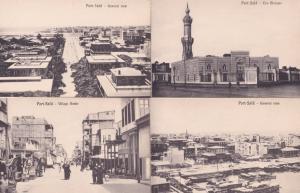 Port Said Aerial & Village 4x Old Postcard s