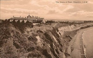 (w85) The Home of Rest Shanklin - Isle of Wight Postcard - Gloss Finish