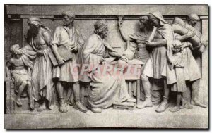Old Postcard One of the panels of the Frieze Above & Liberty cos East India R...
