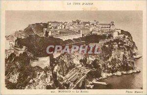 Old Postcard The Rock MONACO