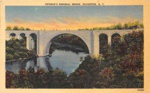 Rochester New York 1940s Postcard Veteran's Memorial Bridge