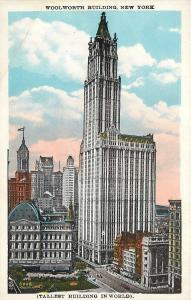 New York City~Woolworth Building, the Tallest in the World 1920s
