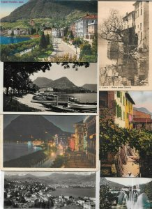 Switzerland Lugano Postcard Lot of 18 01.12