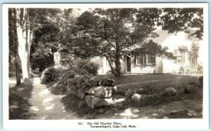 RPPC  YARMOUTHPORT, CAPE COD, Massachusetts MA  Old THATCHER PLACE  Postcard