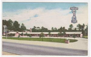 Travelers Motel Florence South Carolina 1959 linen postcard