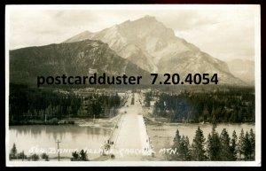 4054- BANFF Alberta 1930 Cascade Mtn. Road View. Real Photo Postcard by B.Harmon
